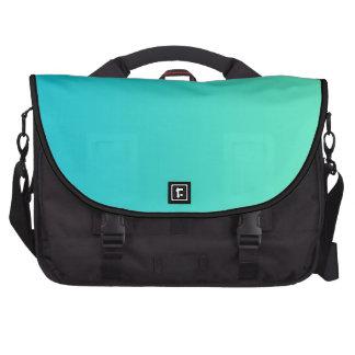 """Turquoise Ombre"" Laptop Shoulder Bag"
