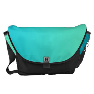 Turquoise Ombre Large Courier Bag