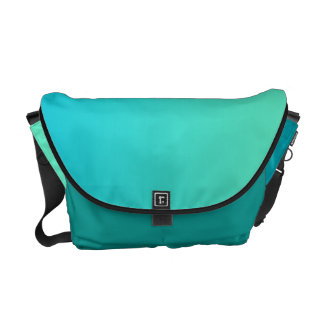 Turquoise Ombre Courier Bag