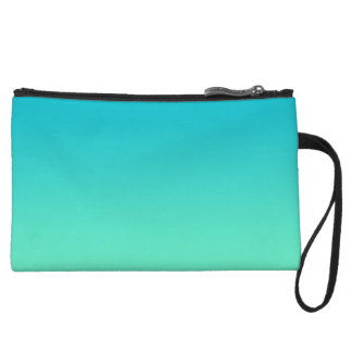 Turquoise Ombre Wristlet