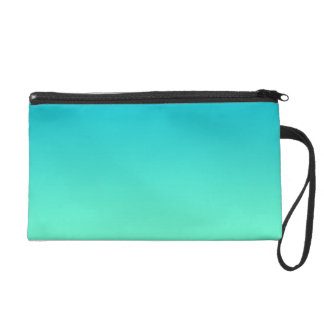Turquoise Ombre Wristlet Clutches