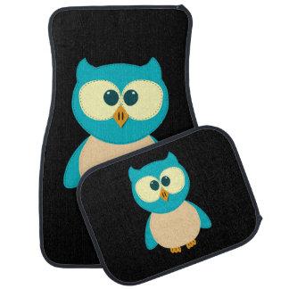 Turquoise Owl Car Mat