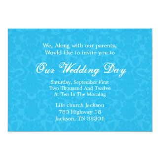 Turquoise Pattern  Background  Wedding Invites
