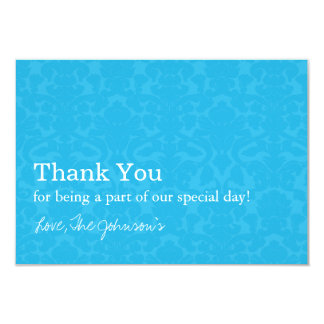 Turquoise Pattern  Wedding Thank You Cards 9 Cm X 13 Cm Invitation Card