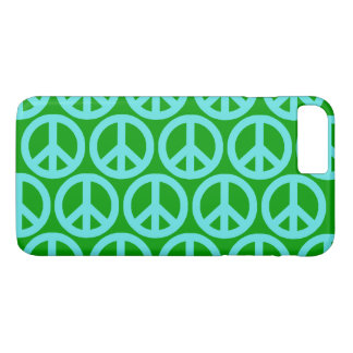 Turquoise Peace Signs iPhone 7 Plus Case