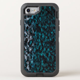 Turquoise Pebbles OtterBox Defender iPhone 7 Case