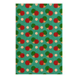 Turquoise ping pong pattern cork fabric