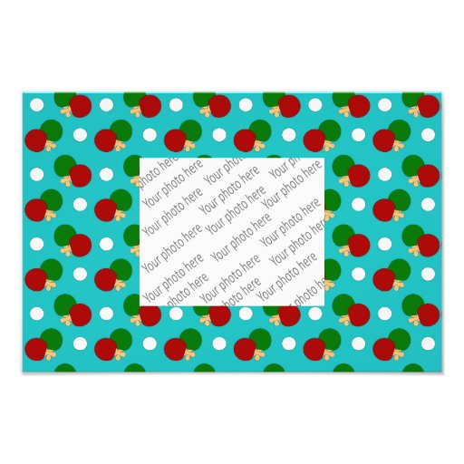 Turquoise ping pong pattern photographic print
