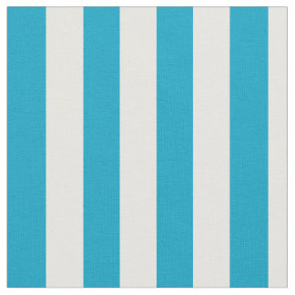 Turquoise Pink and White Vertical Stripes Fabric