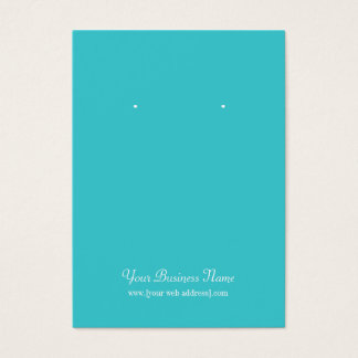 Turquoise Plain Simple Custom Earring Card