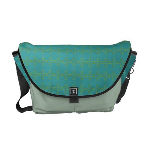 Turquoise Plus Rickshaw Messenger Commuter Bags