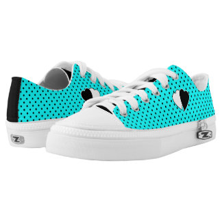 Turquoise polka dot background low tops