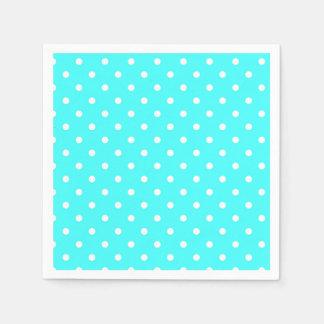 Turquoise polka dot modern glamour paper serviettes