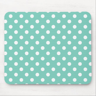 Turquoise Polka Dot Pattern Mouse Pad