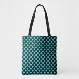 Turquoise Polka Dots Tote Bag