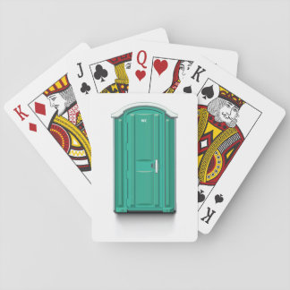 Turquoise Portable Toilet Playing Cards