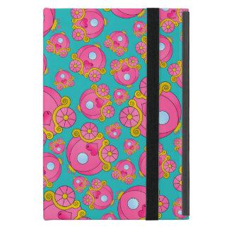 Turquoise princess carriage pattern iPad mini covers
