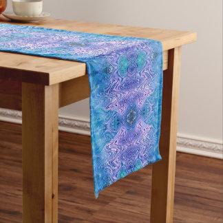 Turquoise Purple Abstract Medium Table Runner