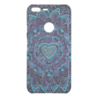 Turquoise Purple Celtic Heart Mandala Uncommon Google Pixel XL Case
