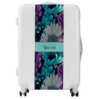 Turquoise & Purple Daisies Luggage