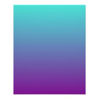 Turquoise Purple Ombre 11.5 Cm X 14 Cm Flyer