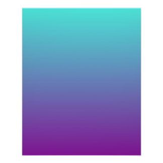 Turquoise Purple Ombre Flyer