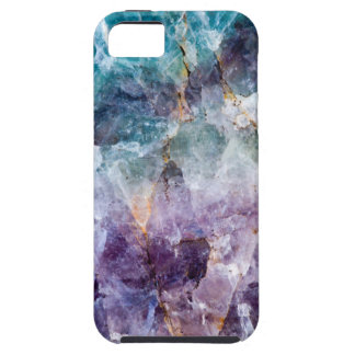 Turquoise & Purple Quartz Crystal Case For The iPhone 5