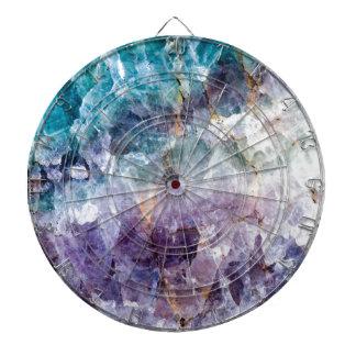 Turquoise & Purple Quartz Crystal Dartboard