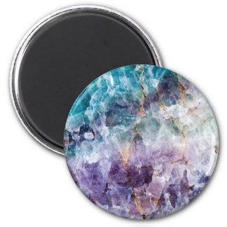 Turquoise & Purple Quartz Crystal Magnet