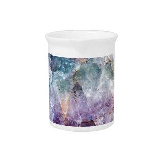 Turquoise & Purple Quartz Crystal Pitcher