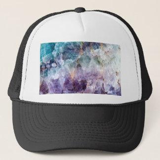 Turquoise & Purple Quartz Crystal Trucker Hat