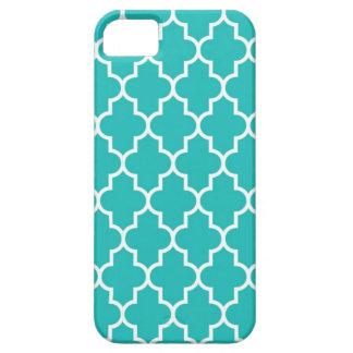 Turquoise Quatrefoil iPhone 5 Cases
