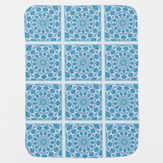 Turquoise Quilt Design Baby Blanket Gems Pattern