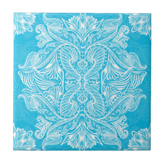 Turquoise, Raven of mirrors, dreams, bohemian Ceramic Tile