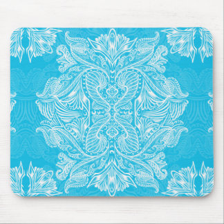 Turquoise, Raven of mirrors, dreams, bohemian Mouse Pad