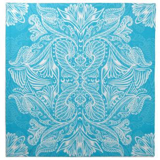 Turquoise, Raven of mirrors, dreams, bohemian Napkin