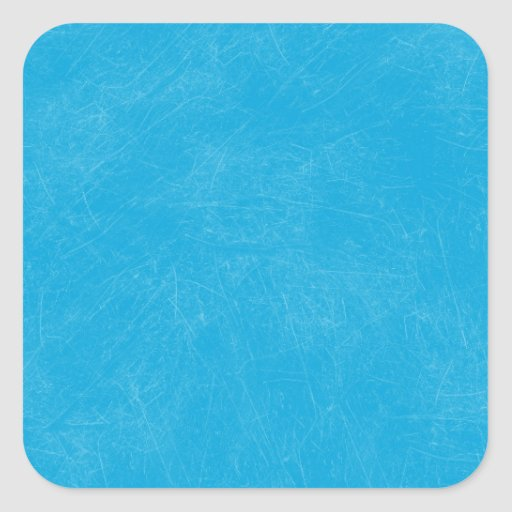 Turquoise Retro Grunge Scratched Texture Square Stickers