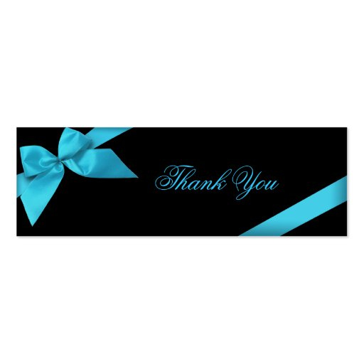Turquoise Ribbon Thank You Card Business Card