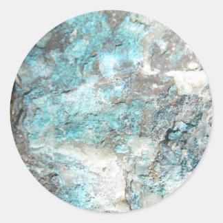 Turquoise Rock Round Sticker