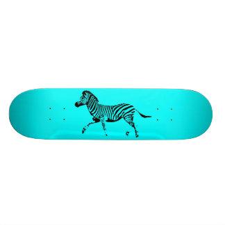 Turquoise Running Zebra Skate Decks