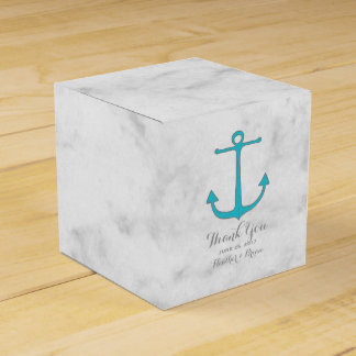 Turquoise Rustic Anchor Wedding Favour Box