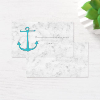 Turquoise Rustic Anchor Wedding Place Cards
