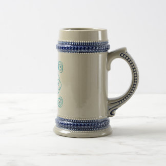 Turquoise Scroll & Knot Stein 18 Oz Beer Stein