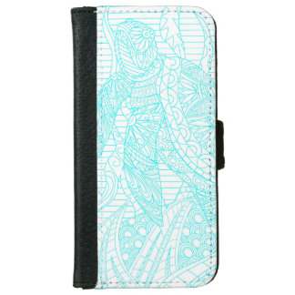 Turquoise Sea Turtle ocean tropical sea life iPhone 6 Wallet Case