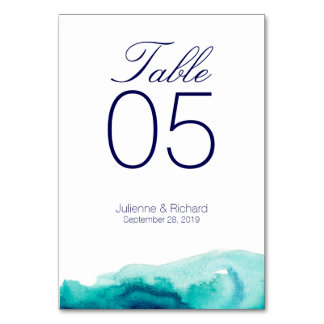 Turquoise Sea | Wedding Wedding Table Cards