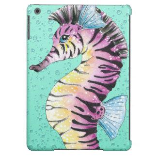 Turquoise Seahorse Zebra iPad Air Cases