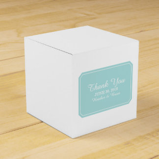 Turquoise Simply Elegant Favor Boxes