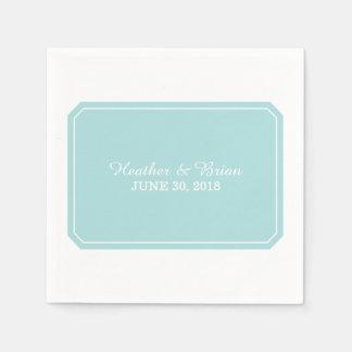 Turquoise Simply Elegant Paper Napkins