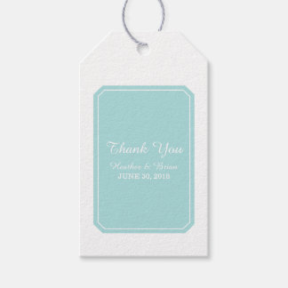 Turquoise Simply Elegant Wedding Gift Tags