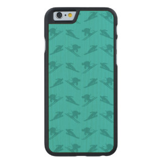 Turquoise ski pattern carved® maple iPhone 6 slim case